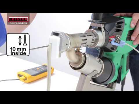 Leister WELDPLAST Extrusion Welder setup