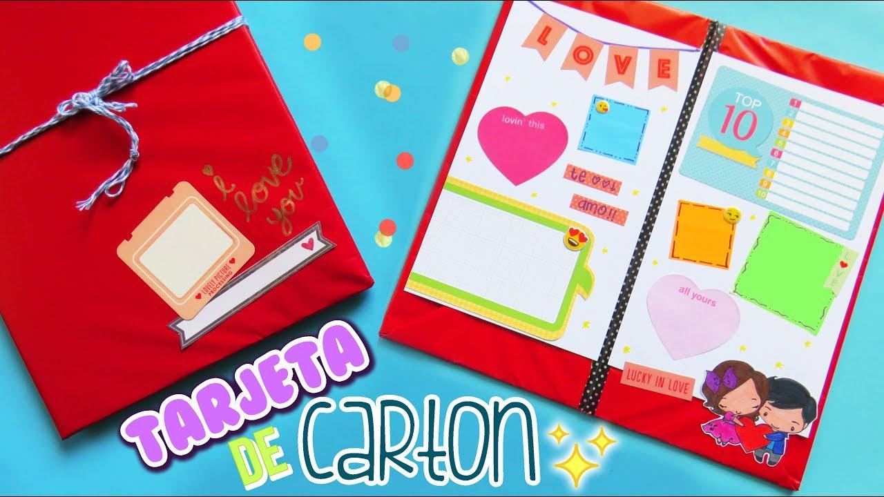 Tarjeta con carton regalo facil y rapido mariana - Regalos faciles y rapidos ...