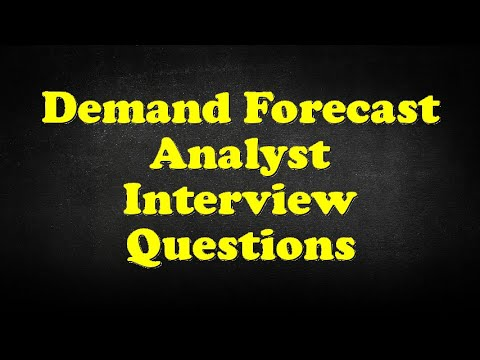 Demand Forecast Analyst Interview Questions Youtube
