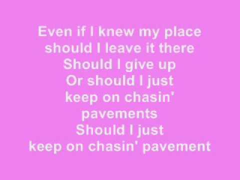 GLEE - Chasing Pavements karaoke