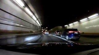 Waterproof Ultra 4K HD 1080P WiFi SJ4000. Night test the Holland Tunnel crossing into New York