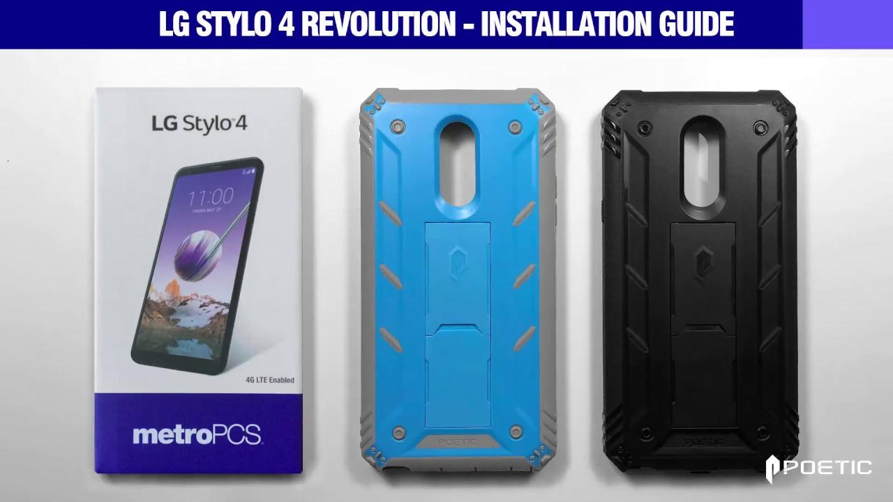 new arrival 68295 870f1 LG Stylo 4 Case - Poetic Revolution Installation Guide