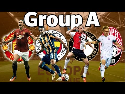 EUROPA LEAGUE 2016/2017 GROUP A Manchester United, Fenerbahce, Feyenoord, Zorya