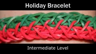 Rainbow Loom® Holiday Bracelet