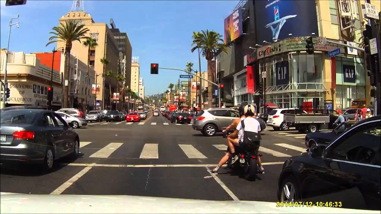 Driving Hollywood Boulevard Los Angeles California Youtube