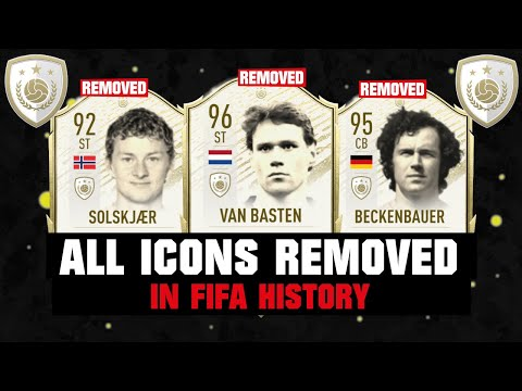 ALL ICONS REMOVED IN FIFA HISTORY! 😱⚠️| FIFA 14 - FIFA 21