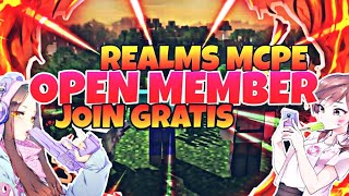 {OPEN MEMBER REALMS} -JOIN AJA LANGSUNG SKUY- #mcpe #openmember #realms #1.16