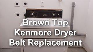 Kenmore Dryer Belt Replacement