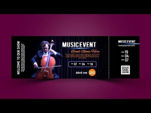 Professional Event Ticket Design | Photoshop Cc Tutorial
