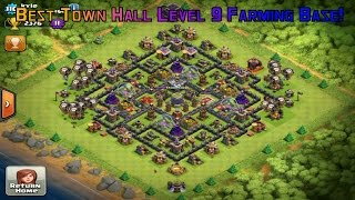 Clash Of Clans | Best Town Hall Level 9 Farming Base!