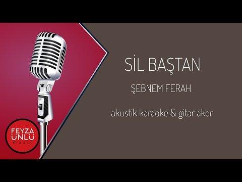 Şebnem Ferah - Sil Baştan Akustik Karaoke & Gitar Akor