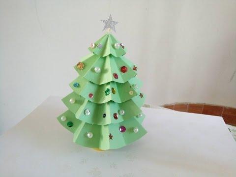 Cách làm cây thông NOEL bằng giấy cực đơn giản