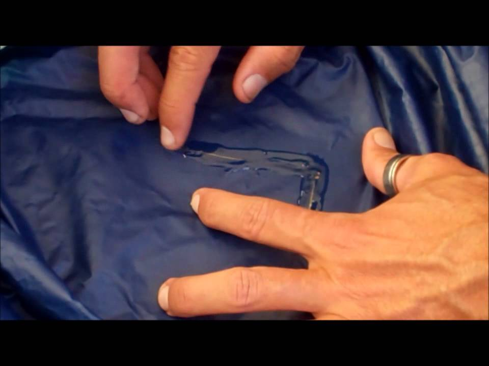 & How to repair a torn tent floor or fly - YouTube