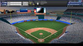 OOTP 19 Exhibition Gameplay