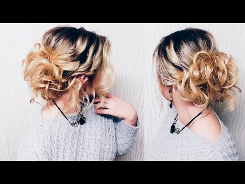 Прическа на КОРОТКИЕ волосы до плеч! | Hairstyle for short hair | LOZNITSA