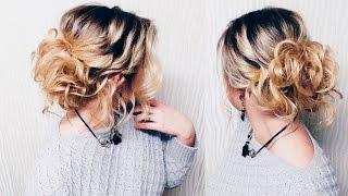 Прическа на ПЕРВОЕ СЕНТЯБРЯ.  КОРОТКИЕ волосы до плеч! | Hairstyle for short hair | LOZNITSA