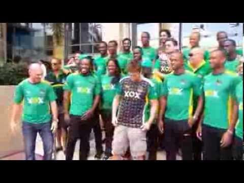 Gerard Butler and the Jamaica Tallawahs