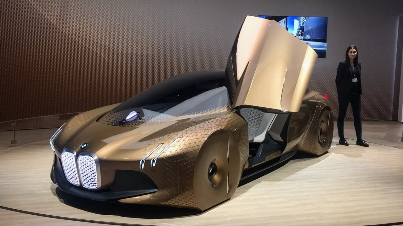 bmw vision next 100! rolls royce, mini cooper and bmw motorcycle