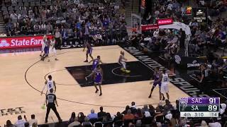 Spurs Zipper Backdoor - Patty Mills misses the layup