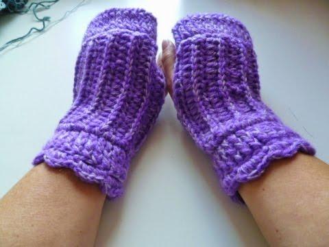Pulswärmer Im Rippenmuster Häkeln Crochet Glove Handschuh