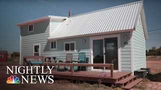 For This Texas Town, Tiny Houses May Signal a Return to Relevance | NBC Nightly News