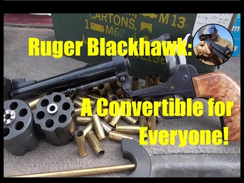 Ruger Blackhawk - .357 9mm Convertible Review and Shoot