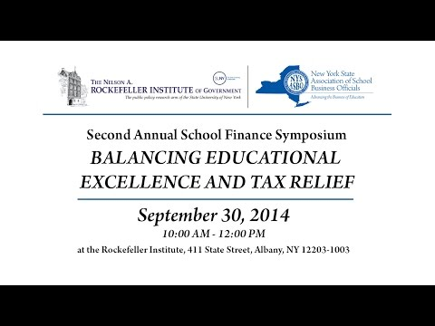 Second Annual School Finance Symposium: Balancing Educational Excellence with Tax Relief