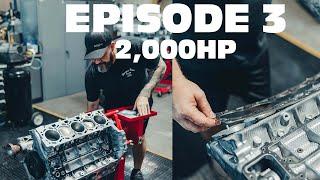 SheepeyRace twin turbo lambo (2,000HP) Engine Build Episode 3