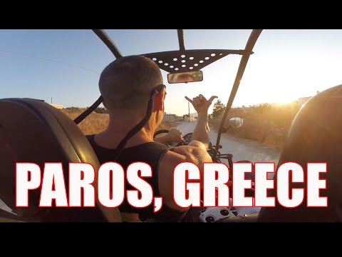 Dune buggy, a drone and PAROS GREECE - HD