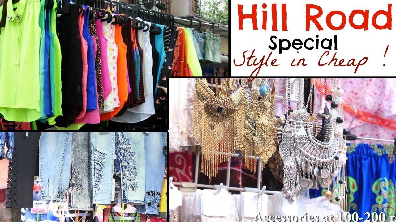 Exploring Hill Road Bandra Western Clothes Shoes Accessories In Cheap Kareena Malik Youtube