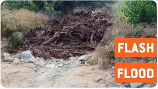 Flash Flood Hits Utah Road | Washed Away