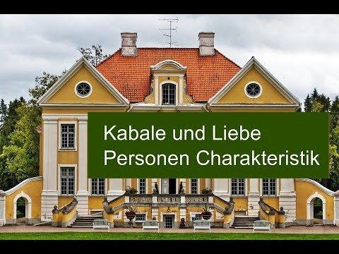 Kabale Und Liebe Charakteristik Der Personen Und Konstellation Der