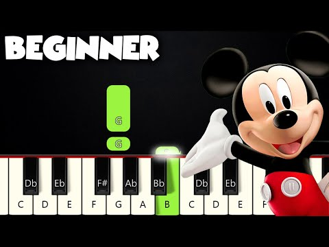 Mickey Mouse Clubhouse - Hot Dog Dance | BEGINNER PIANO TUTORIAL + SHEET MUSIC by Betacustic