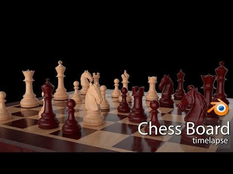 Blender 3D Chess Board modeling/sculpting (timelapse)