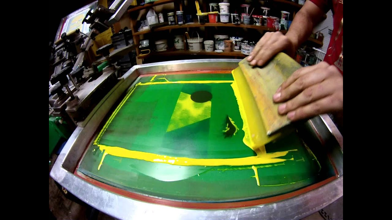 Le t shop making of obsek 4 color process cmyk t shirt youtube - 4 Color Cmyk Screen Printing Process Sixty Six Silk Screening Albuquerque Nm Youtube