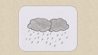 How to draw a Rainy cloud for kids