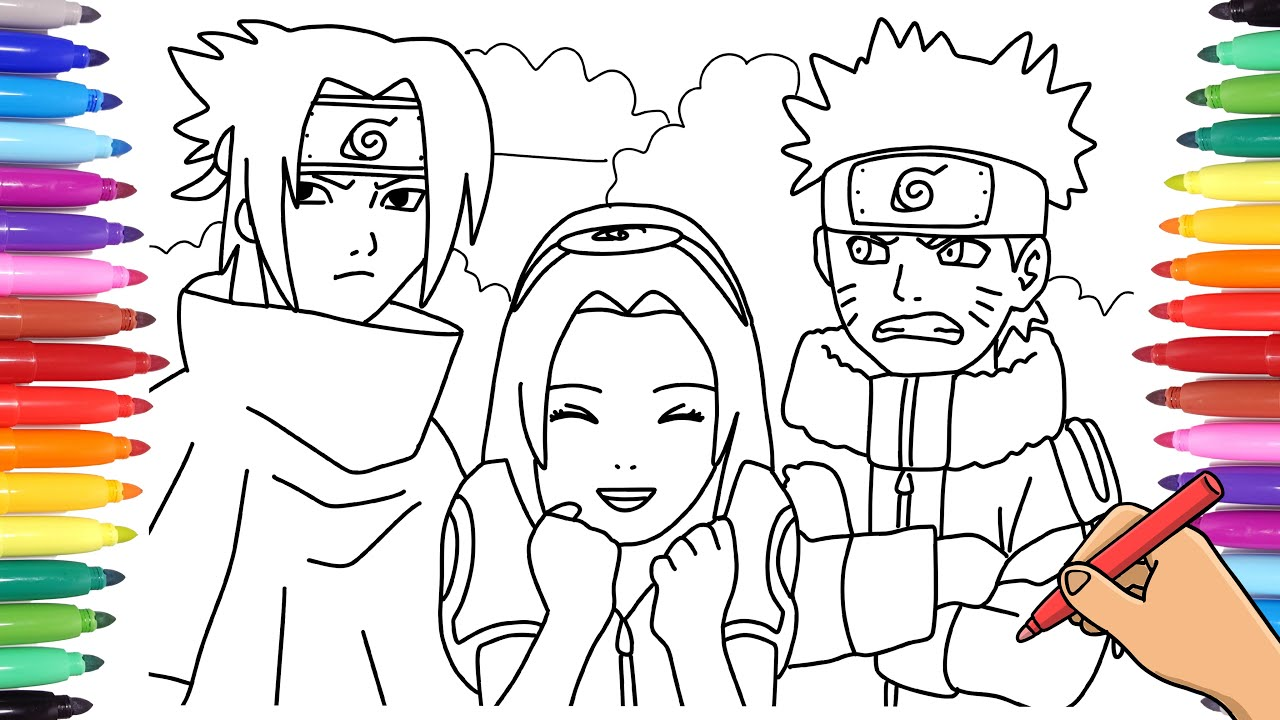 Free Printable Naruto Coloring Pages For Kids | 720x1280
