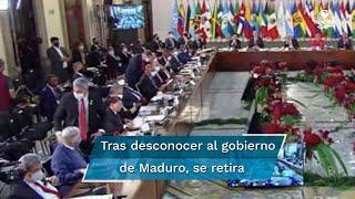 Tras su participación en la cumbre de la Comunidad de Estados Latinoamericanos y Caribeños, el presidente de la República de Paraguay, Mario Abdo Benítez, abandonó la reunión que continúa en Palacio Nacional