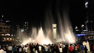 Dubai Fountain dancing on Michael Jackson's - Thriller