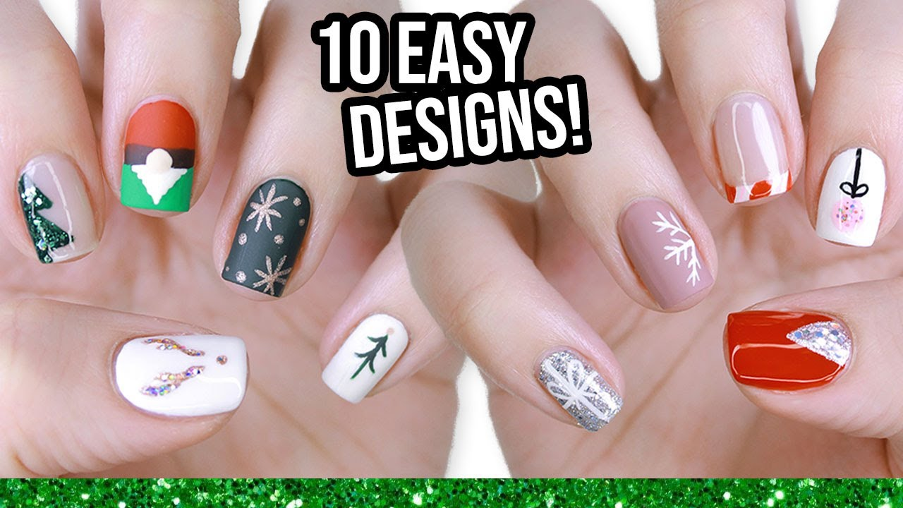 10 Easy Nail Art Designs For Beginners The Christmas Edition!