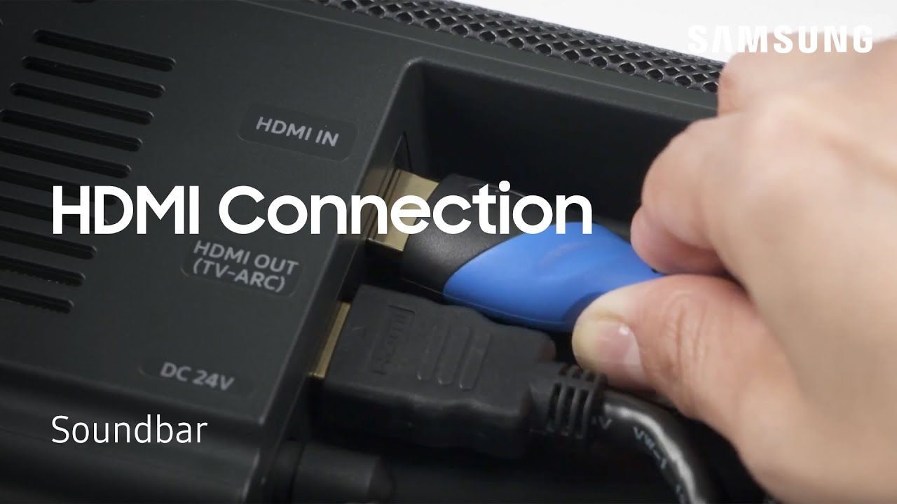 Connect Your Soundbar to an External Device Using an HDMI Cable