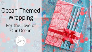 Elegant Gift Wrapping with Beautiful Underwater Flora Paper!