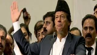 PTI Chairman Imran Khan addressing lawyers at Karachi's city courts