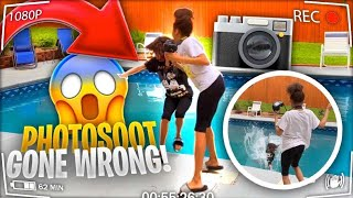 PUSHING TWIN SISTER INTO POOL PRANK ! (PHOTOSHOOT GONE WRONG !!) |Thewickertwinz
