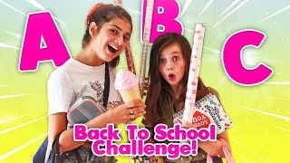DE ALFABET BACK TO SCHOOL SHOPPING CHALLENGE met LILLYAN | ABC Challenge - Bibi