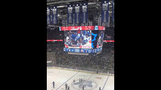 Cheater's Kiss on KISS CAM @ 2017 NHL  Valentine's Day
