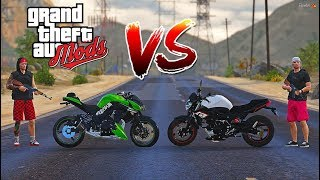 GTA V MODS | Z1000 do CH4P4X vs XJ6 do RDGAMEPLAY 😱