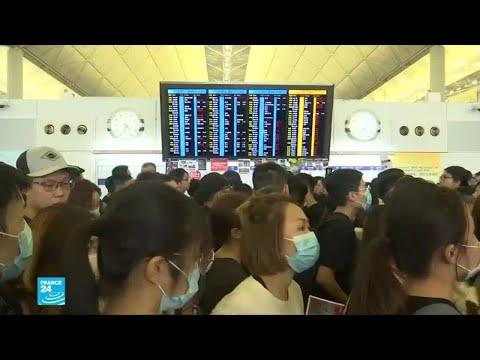محتجون يعتصمون في مطار هونغ كونغ  - 16:54-2019 / 8 / 12