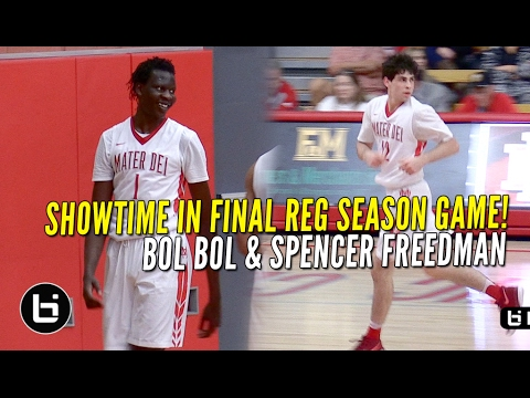 Bol Bol & Spencer Freedman Combine for 56 Points In Win!! Mater Dei vs Olu FULL Highlights