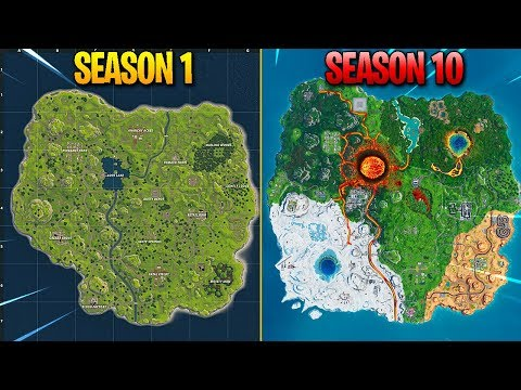 Evolution Of Fortnite Map (Season 1 - Season 10)